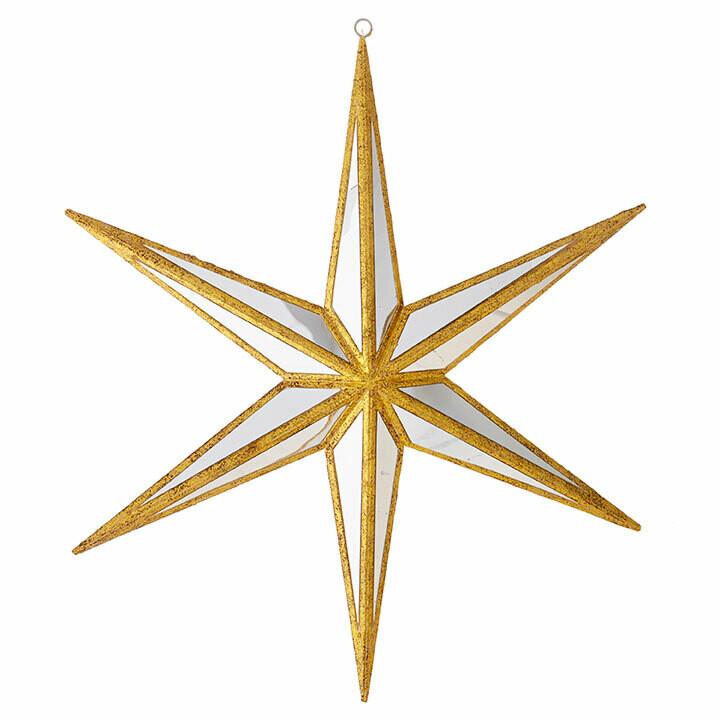 "12"" Mirrored Star Ornament"