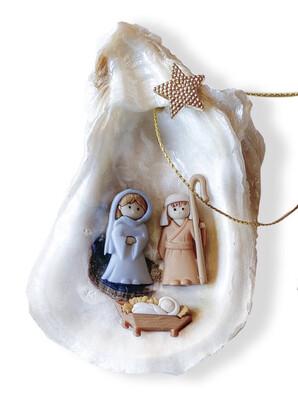 Handmade Oyster Nativity