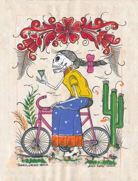 Bicycle Trip Postcard