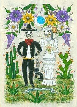Together Until Death Postcard