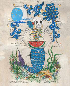 Single Mermaid Postcard