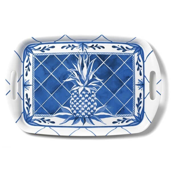 Blue Pineapple Serving Tray