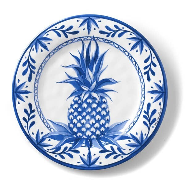 Blue Pineapple Dinner Plate