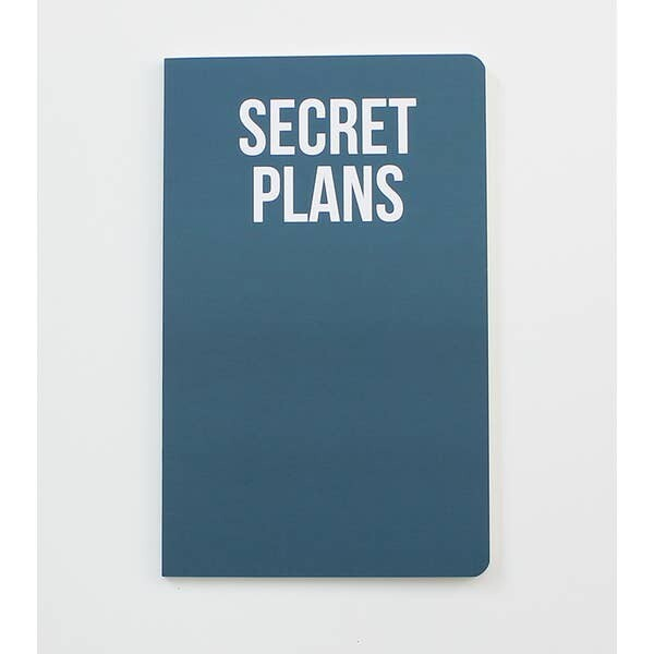 Secret Plans Notebook
