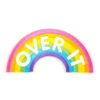 Over It Embroidered Patch