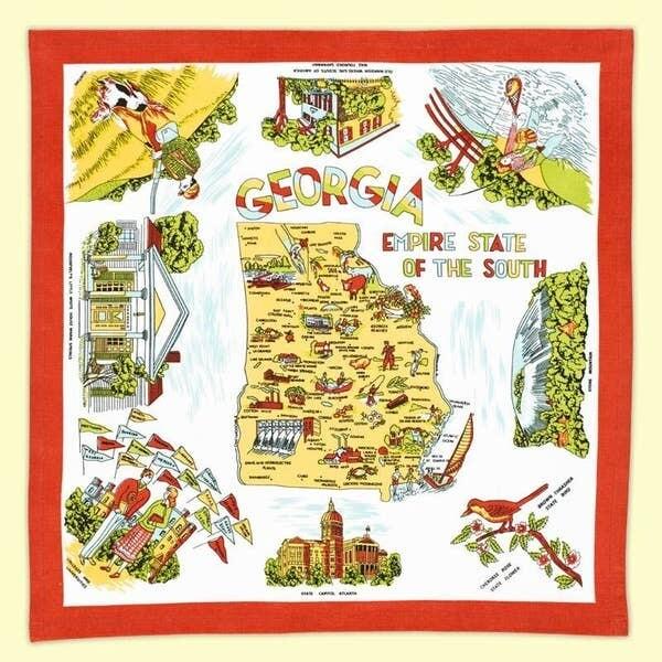 Georgia Map with Newnan printed on it