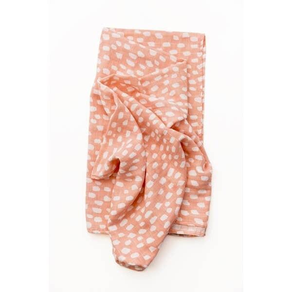 Spotted Blush Swaddle Blanket