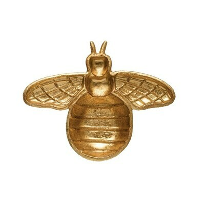 Cast Iron Bee Trinket Dish