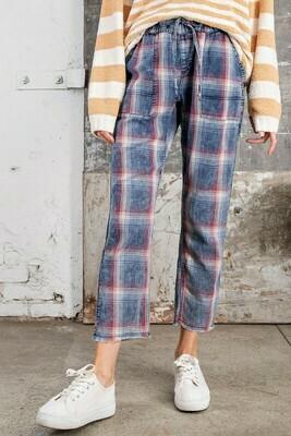 Plaid Print Pants