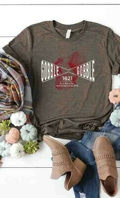 Gobble Gobble Brown Tee