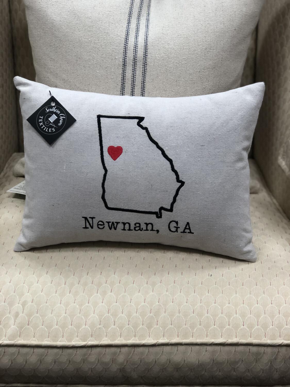 Newnan Is Where Your Heart Is Lumbar Pillow