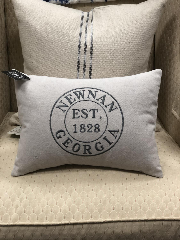 Newnan Stamp Lumbar Pillow