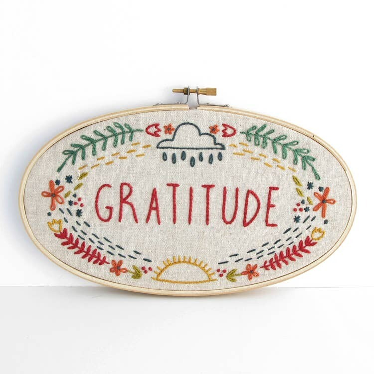 Gratitude Embroidery Kit