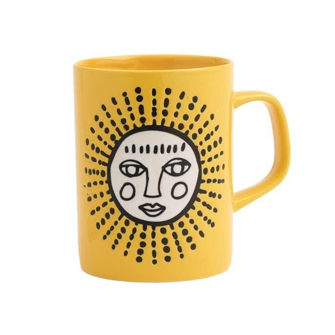 Yellow Sun Color Mug