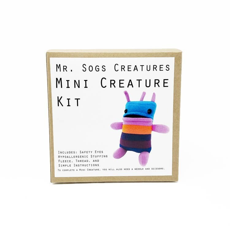 Mr. Sogs Creature DIY Sewing Kit.. Blue