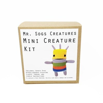 Mr. Sogs Creature DIY Sewing Kit.. Yellow
