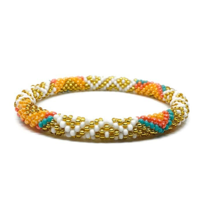 "Nepal Beaded Bracelet ""Sweet Orange"""