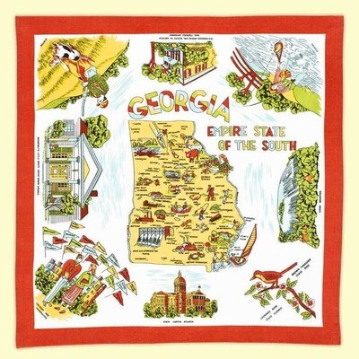 Georgia Map Dishtowel