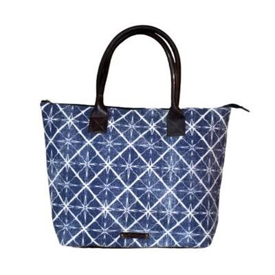 Genuine Leather Cotton Rug Bag