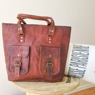 Genuine Leather Double Front Bag