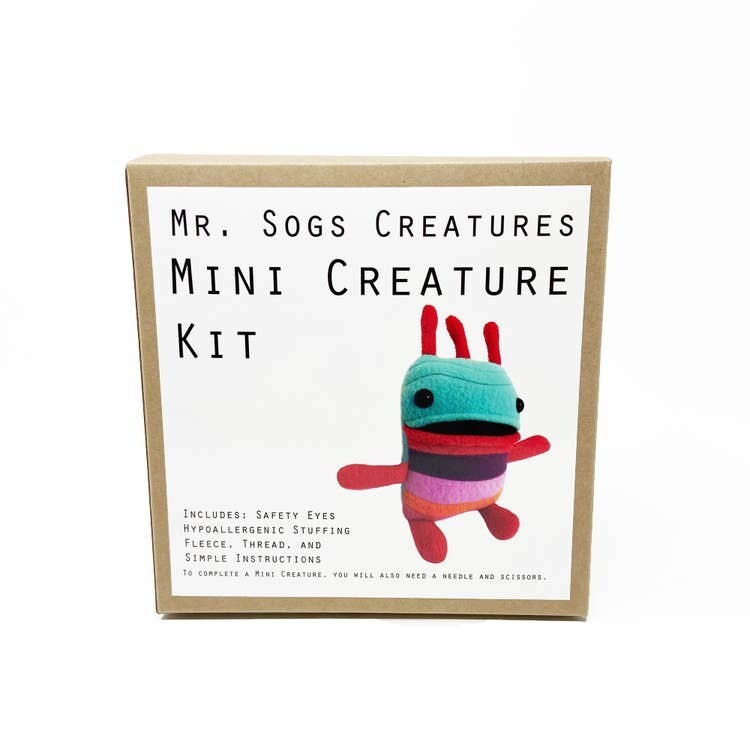 Mr. Sogs Creature DIY Sewing Kit.. Turquoise