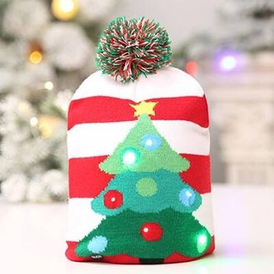 LED Christmas Tree Beanie Hat