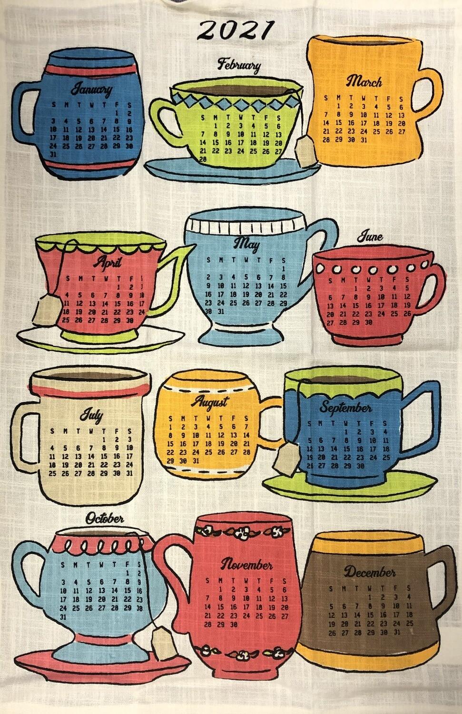 2021 Calendar Dishtowel Coffee & Tea