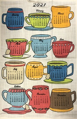 2021 Calendar Dishtowel Coffee & Tea