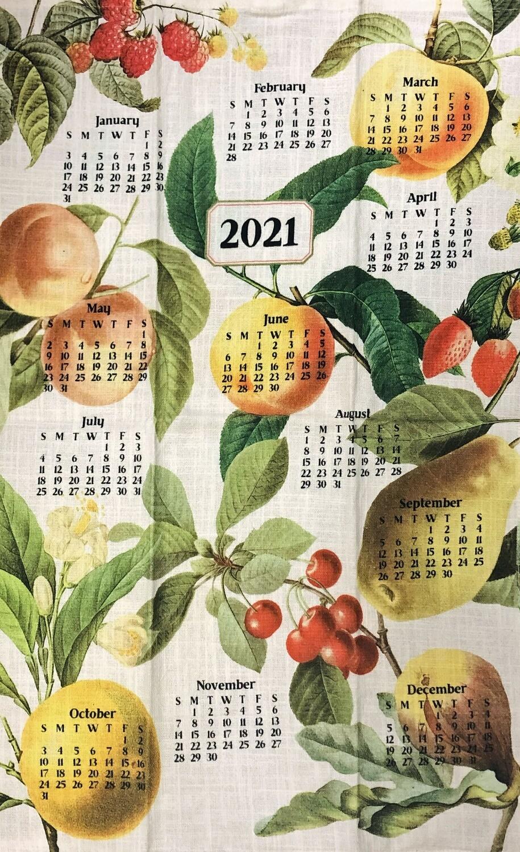 2021 Calendar Dishtowel Fruit
