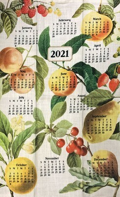 2021 Calendar Dishtowel Fruit