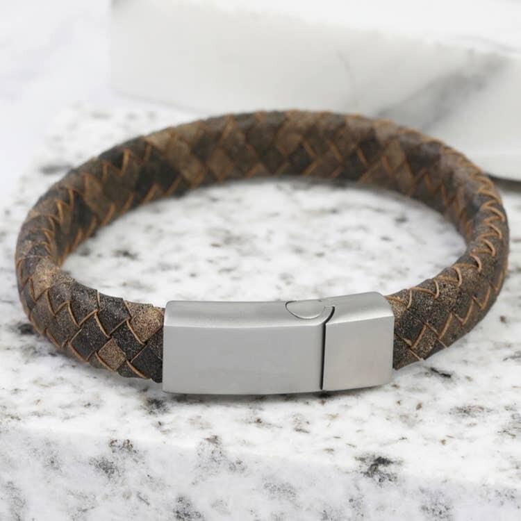Antique Brown Leather Bracelet