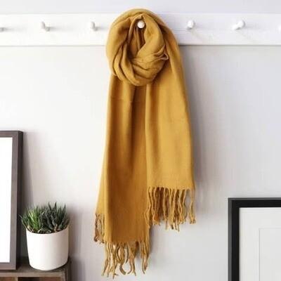 Mustard Lambs Wool Scarf