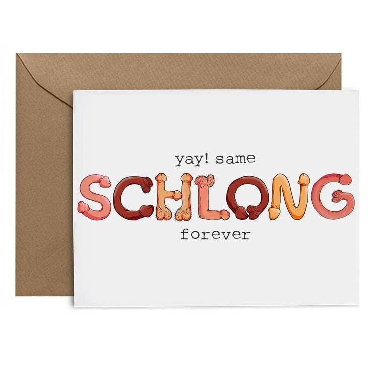 Bachelorette Schlong Card