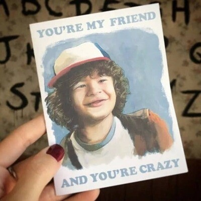 Stranger Things Dustin Card