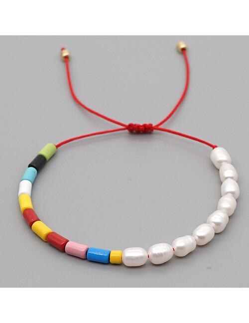 Dainty Pearl Multi Colored Enamel Beads