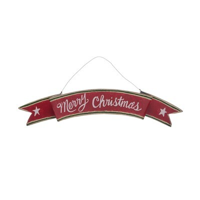 Merry Christmas Metal Banner