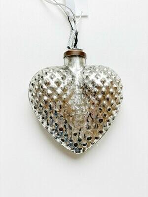 Silver Heart Ornament