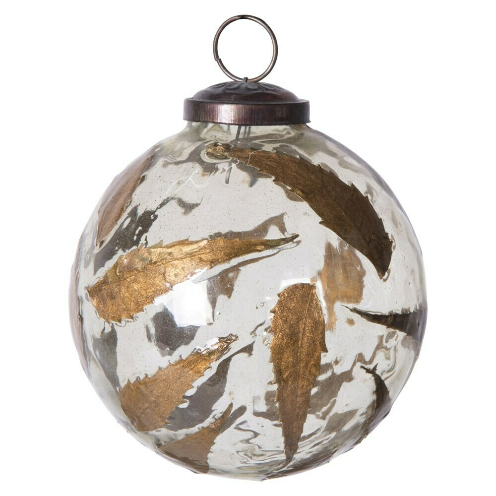 Two Toned Ball Ornament