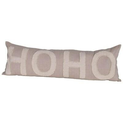 HoHo Taupe Christmas Pillow
