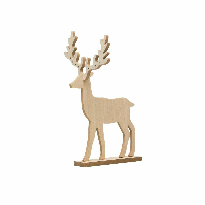 Wood Deer Ornament Holder