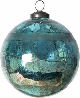 Large Aqua Mercury Glass Ornament