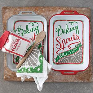 Enamel Baker Baking Spirits Bright