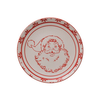 Santa Stoneware Plate 6