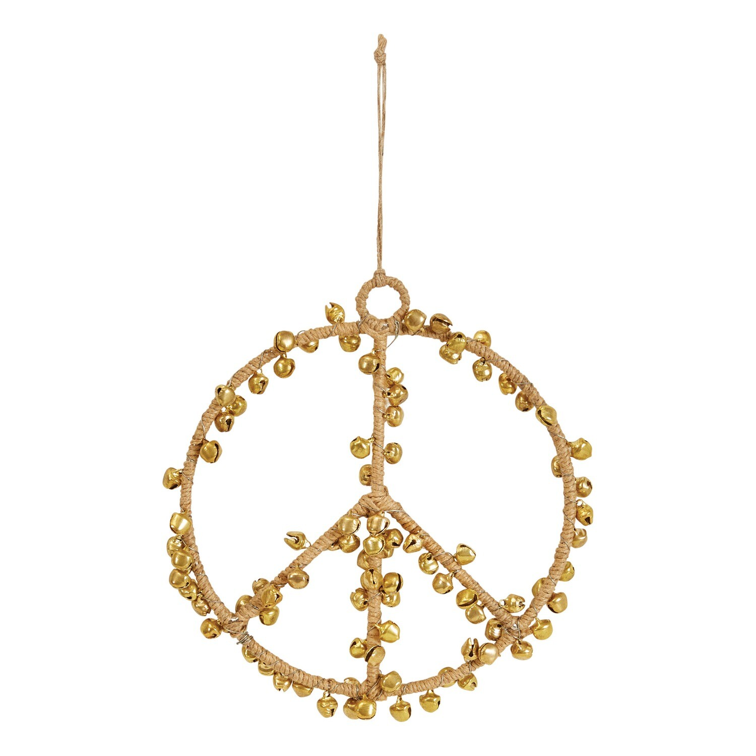 Peace Sign with Jingle Bells