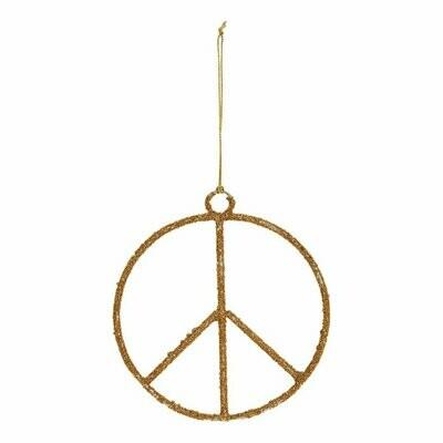Glass Bead Peace Sign Ornament