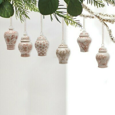 Ginger Jar Ornaments Blush Color.. Each One Will Vary