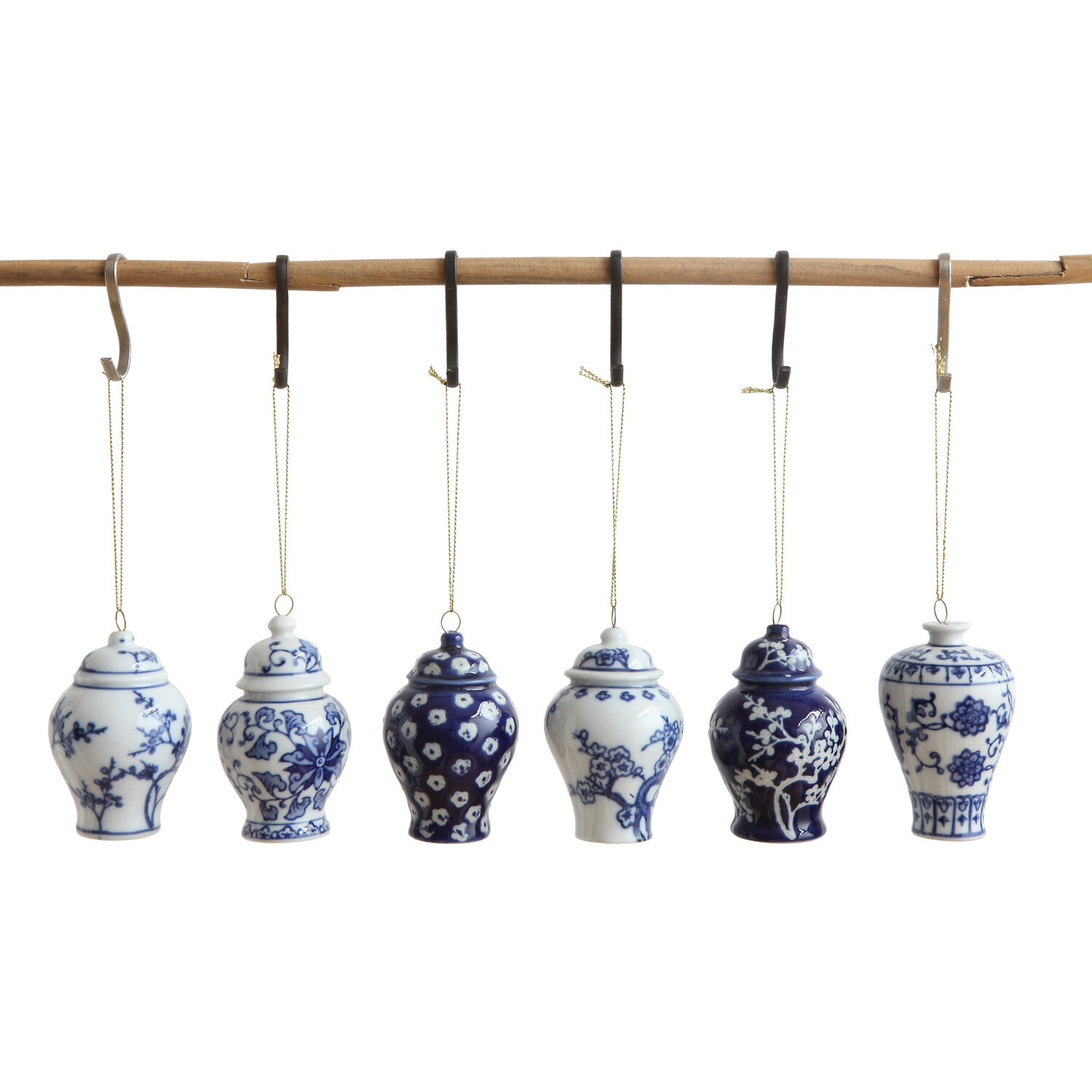 Ginger Jar Ornaments Blue Color.. Each One Will Vary