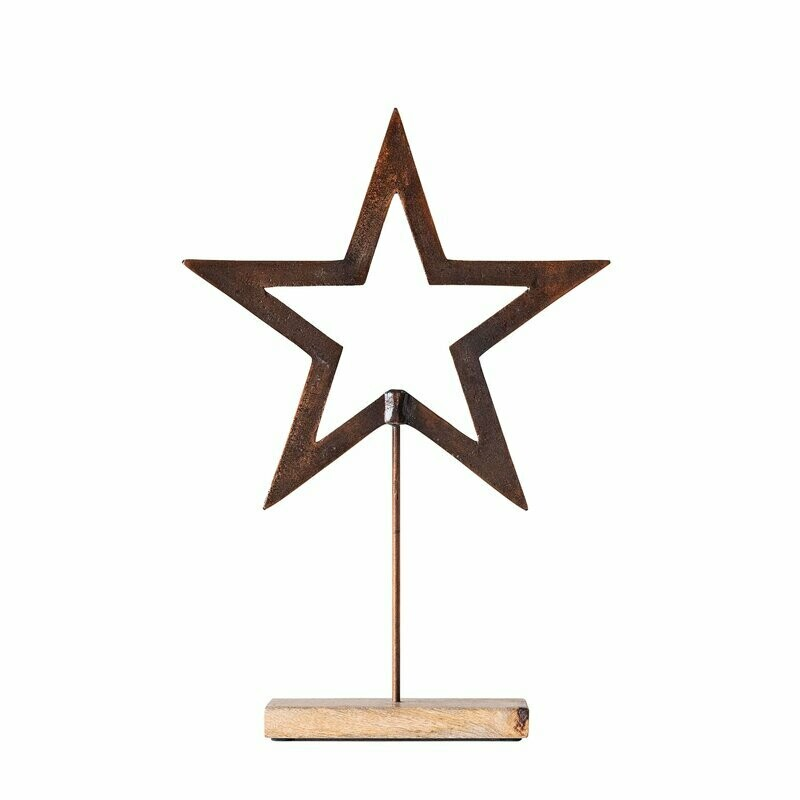 Metal Star on Wood Base