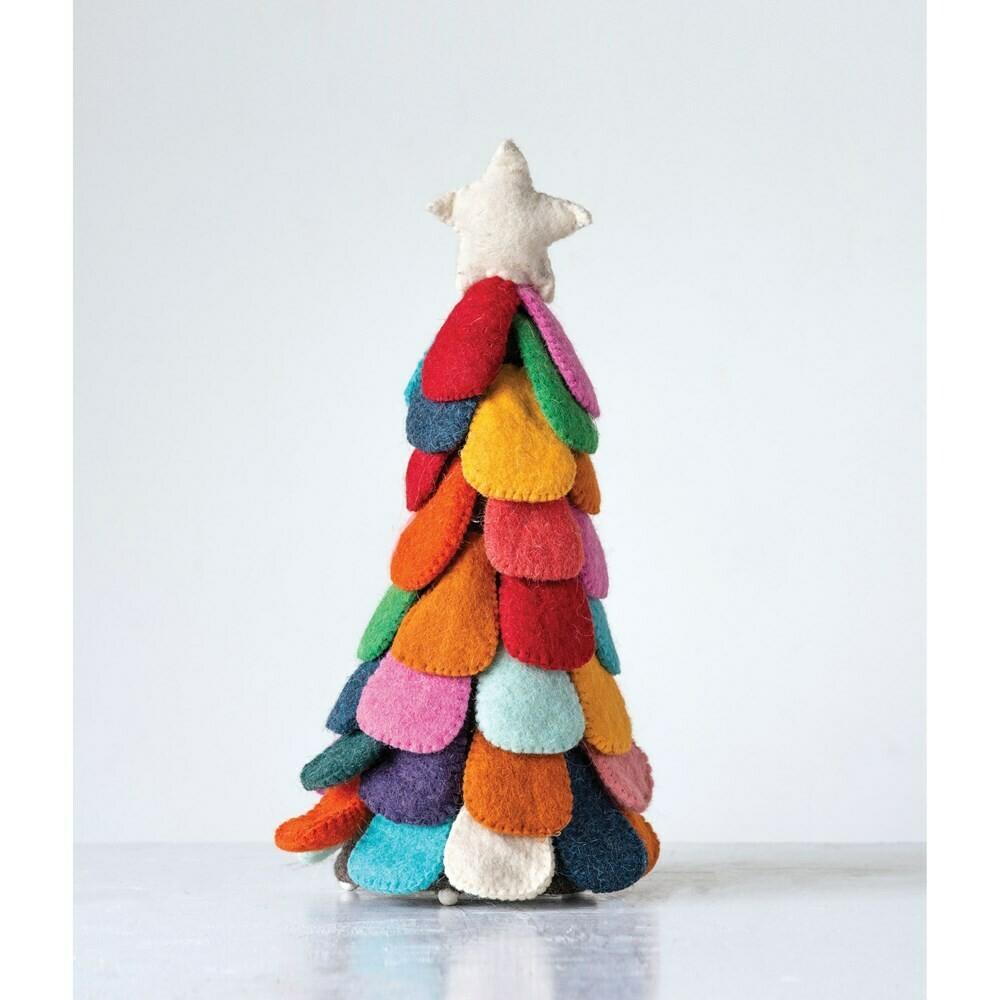 """15"""" Wool Felt Christmas Tree"""