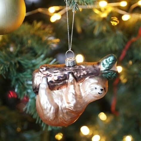 Christmas Sloth Bauble